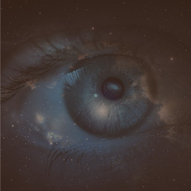 Eye picture in space